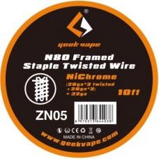 GeekVape Bobina Ni80 Framed Staple Twisted Wire 26ga 26gax2 32ga 10ft