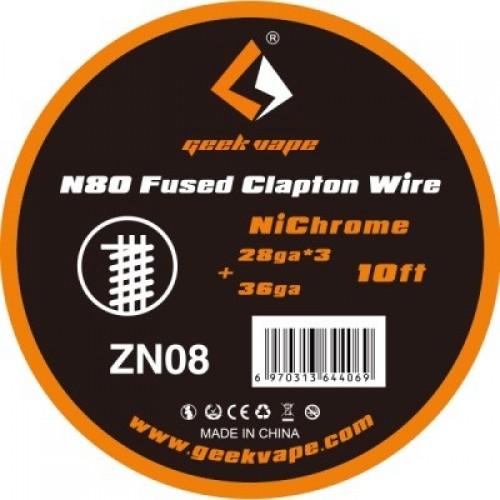GeekVape Bobina Ni80 Fused Clapton Wire 28ga x3 10ft