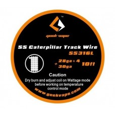 GeekVape Bobina SS316 Caterpillar Track 28GAx4 30GA 10ft