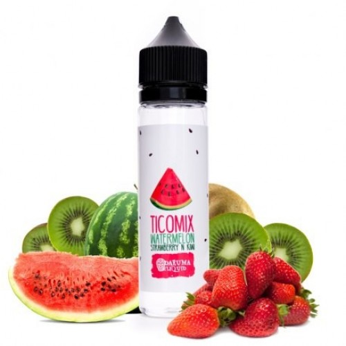 Daruma Tico Mix Watermelon Strawberry n Kiwi 50ml (Booster)