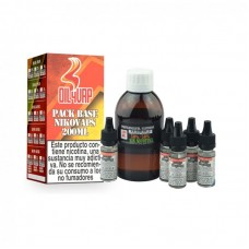 Pack Base y Nicokit Oil4Vap 70vg/30pg 200ml 6mg