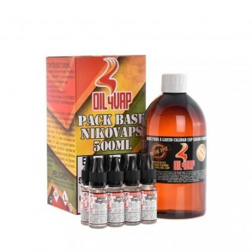 Pack Base y Nicokit Oil4Vap 70vg/30pg 500ml 3mg
