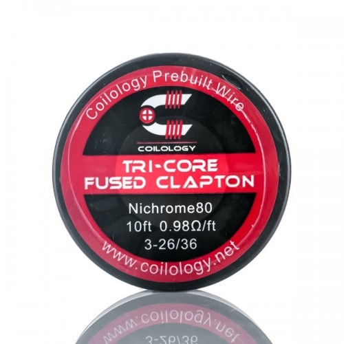 Coilology Bobina Ni80 Tri-Core Fused Clapton 26*3ga 36ga 10ft