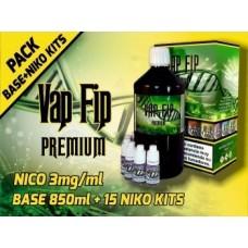 Pack Base y Nicokit Vap Fip 80vg/20pg 1 Litro 3mg