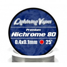 Lightning Vapes Bobina Ni80 0.4x0.1mm 25ft