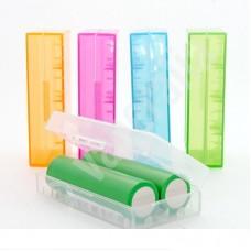 Caja protectora para baterías 2x18650 Transparente