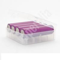 Caja para baterías 4x18650 o 2x26650 Transparente