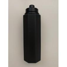 Botella Refill Octogonal Silicona 30ml Negra